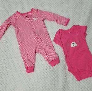Carters Sleeper & Onesie NB